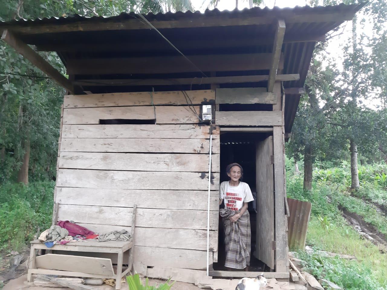 Pondok Tempat Nenek Bungadia Berlindung di Desa Ladumpi, Kecamatan Rarowatu, Kab. Bombana