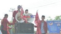 Kader IMM Sultra saat menggelar Aksi Unjuk Rasa