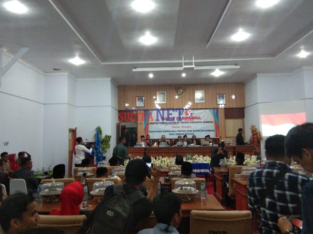 Prosesi Pengambilan Sumpah Jabatan Pimpinan DPRD Bombana
