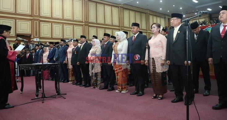 Suasana Pelantikan Anggota DPRD Prov. Sultra