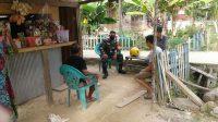 Anggota TNI saat sosialisasi di Lampeantani