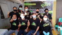 Relawan ASR Bombana yang bertugas pada kegiatan sosialisasi dan pemeriksaan kesehatan gratis warga pesisir