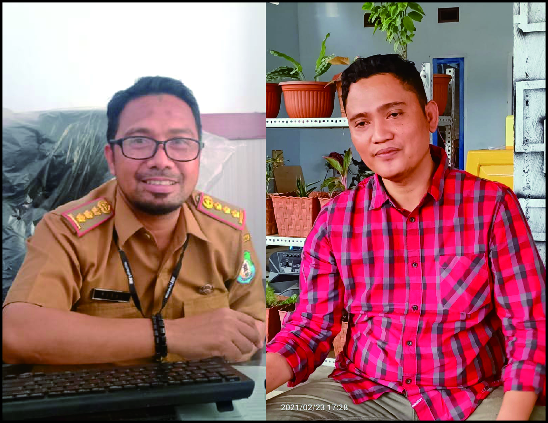 Harno (kiri) Pelaksana BLBJ Bombana dan Hasanuddin (Kanan) Ketua Gapensi Bombana