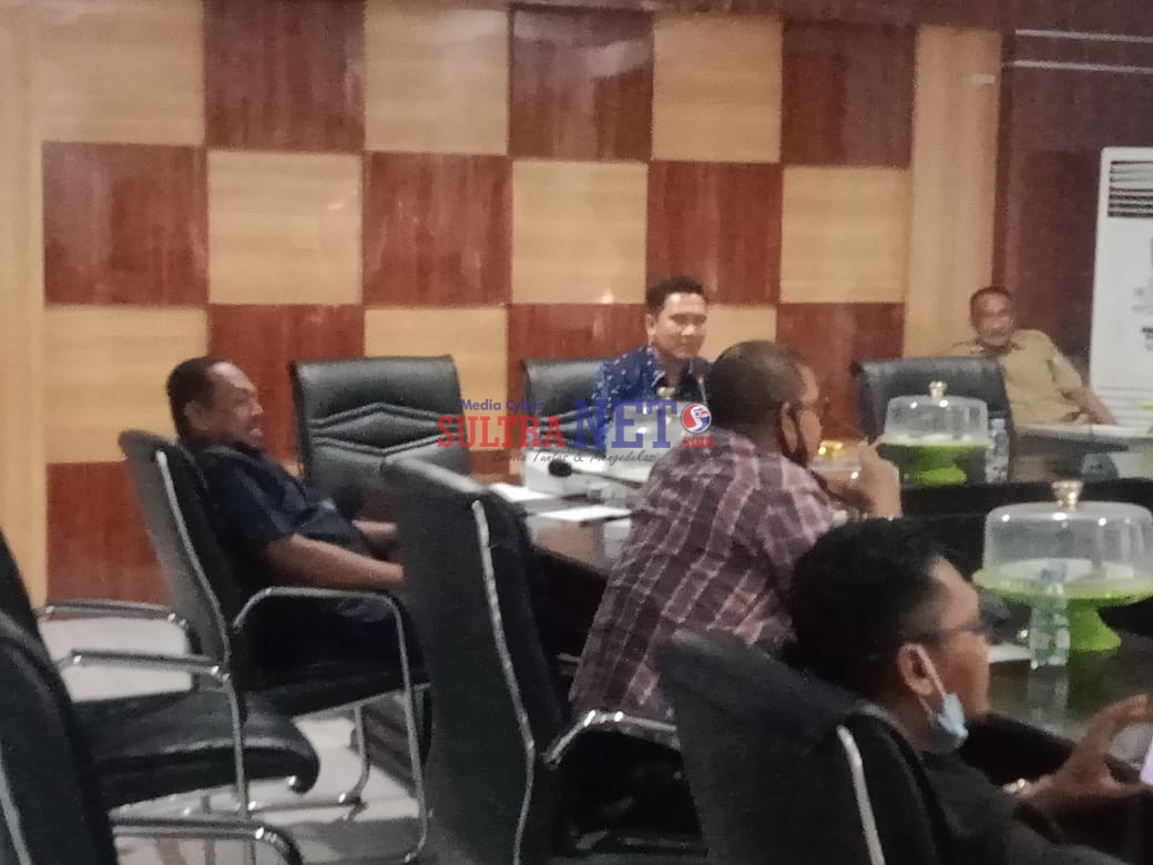 Ketua Komisi II, Rumiyanto saat memimpin Rapat bersama OPD terkait.