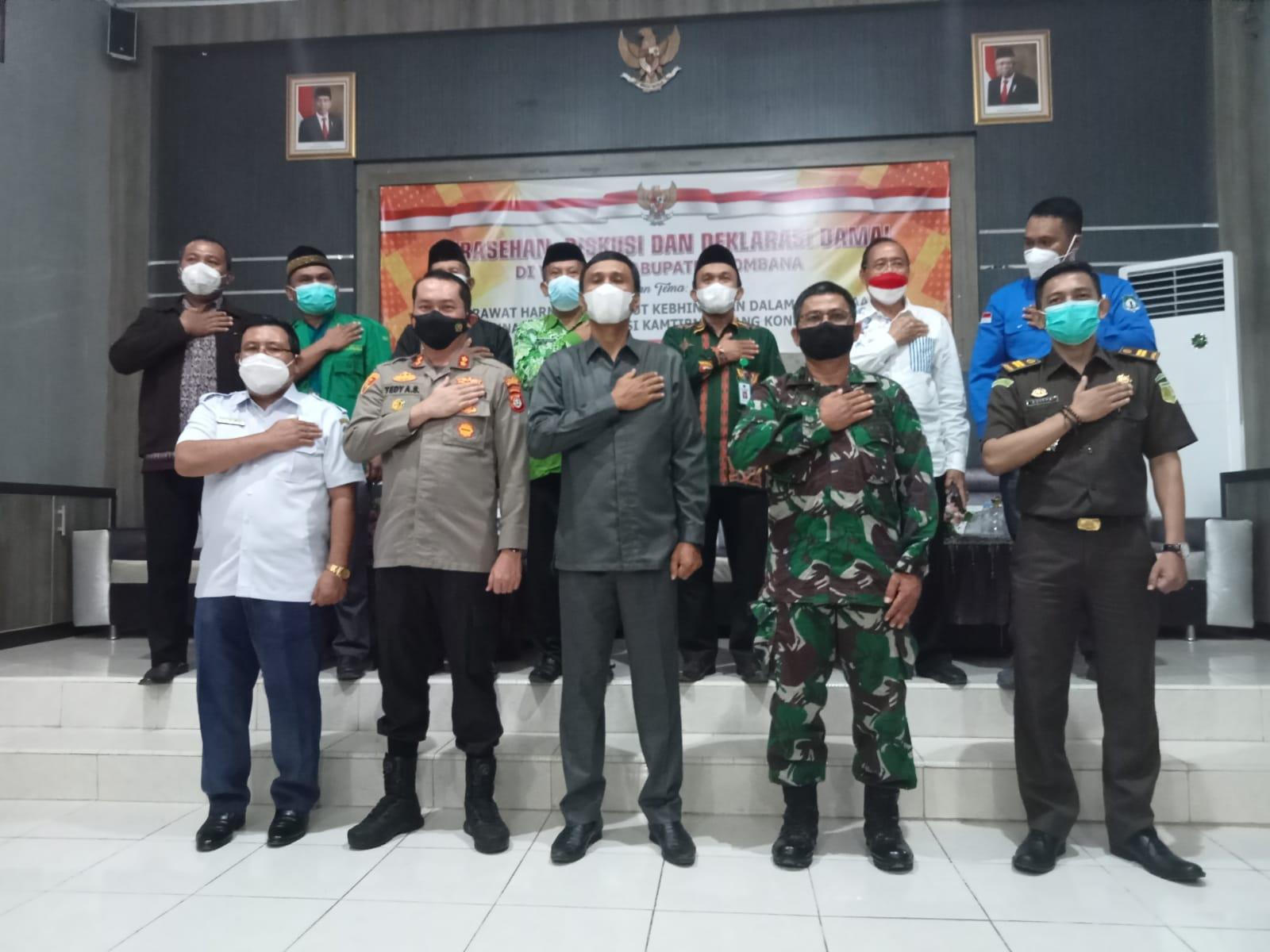 Foto Bersama : Kapolres Bombana bersama Forkopimda dan Tokoh Masyarakat